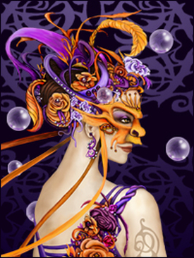 Masquerade Lady by graphic artist Olivia Duval